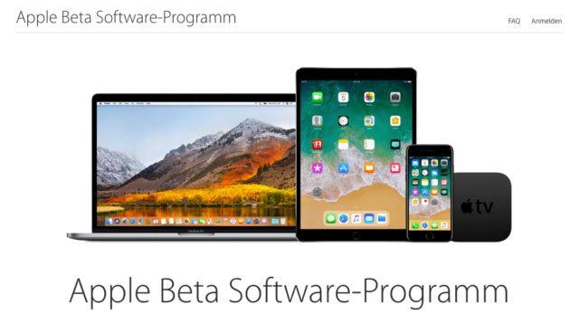 Apple Beta Programm