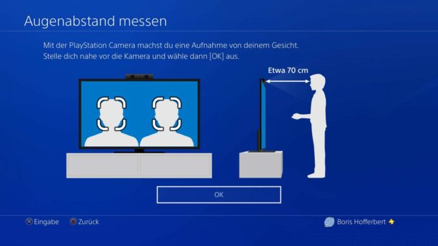 PlayStation VR Augenabstand