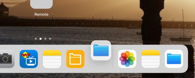 iOS 11 Multitasking Dock