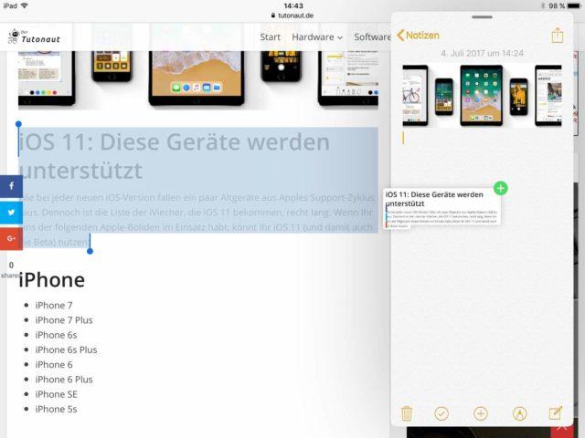 iOS Drag & Drop