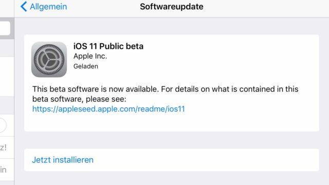 iOS 11 installieren