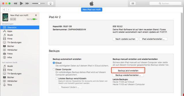 iOS 11 Backup