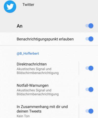 Android 8 Benachrichtigungen