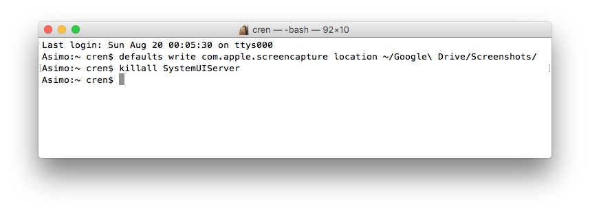 Mit einem Terminal-Befehl sorgt Ihr dafür, dass alle Screenshots im Google Drive landen.