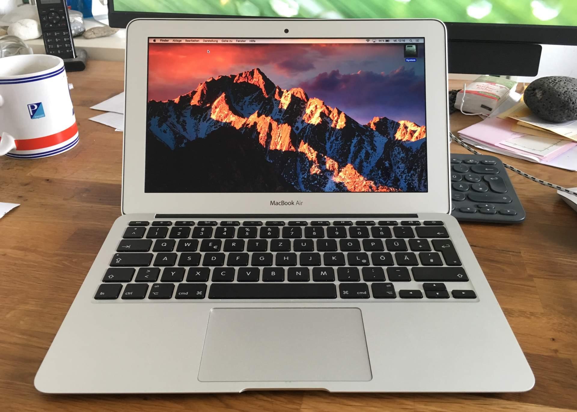 Läuft jetzt wieder: Das gute, alte Macbook Air.