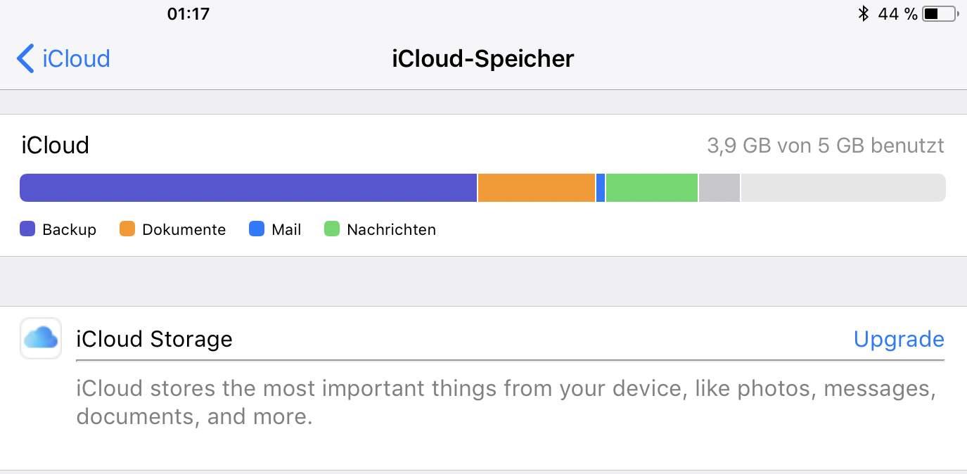 Es ist ja nett, dass es die iCloud gibt. Alternativen wären aber wünschenswert.