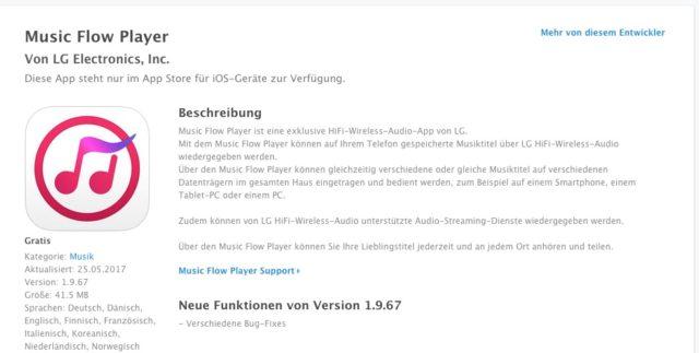 LG Soundbar Music Flow Player