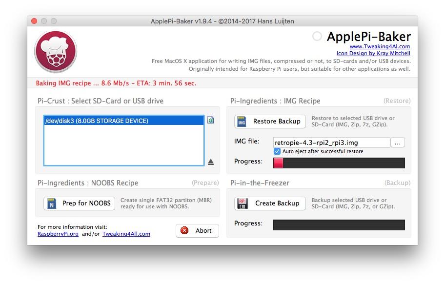 Mit ApplePi-Baker ist die Raspberry-Installation ein Kinderspiel.