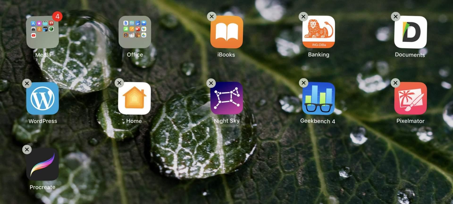 Unbenutzte Apps löschen!