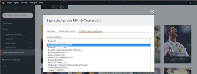Fifa 18 Sprache