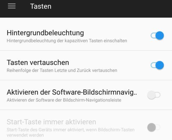 OnePlus 5 Tasten anpassen