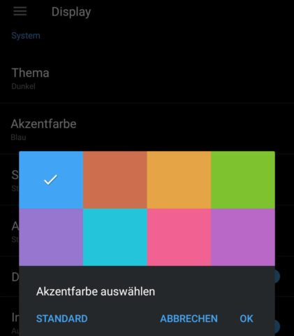 OnePlus 5 Theme wechseln