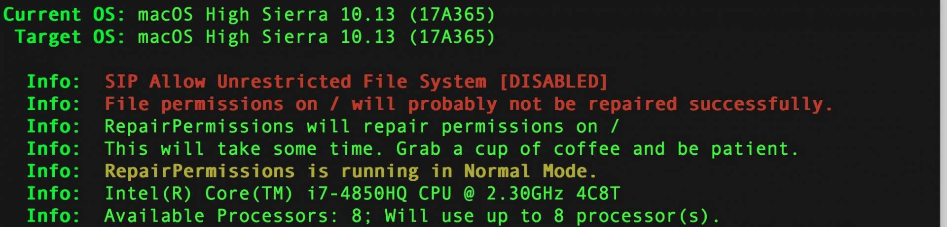 Dateirechte reparieren unter MacOS
