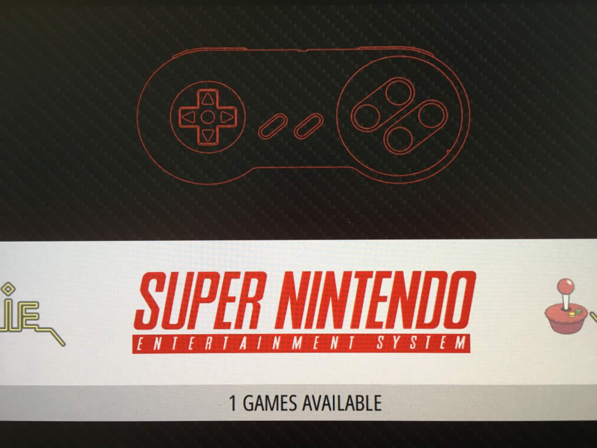 Nach dem Neustart wird das Super-NES angezeigt.