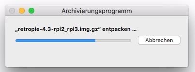 Das GZ-Archiv muss entpackt werden.