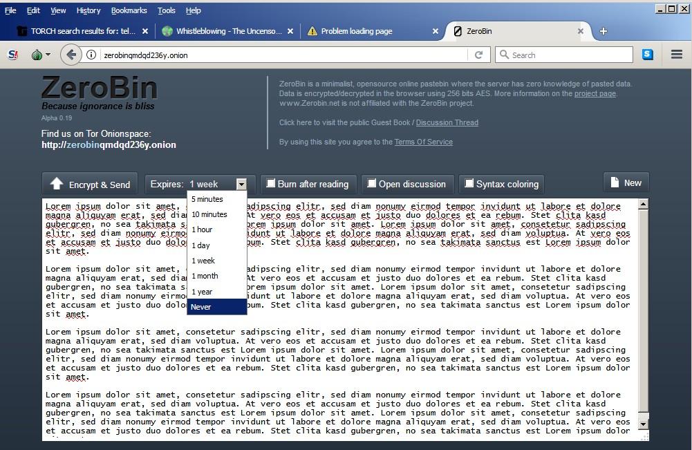 darknet und tor zerobin