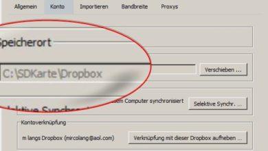 Bild von Anleitung: Dropbox mit Wechselmedien nutzen