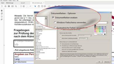 Bild von Schwarze Tinte leer? PDF in anderer Farbe drucken