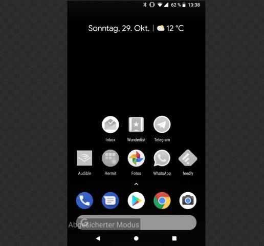 Android im abgesicherten Modus
