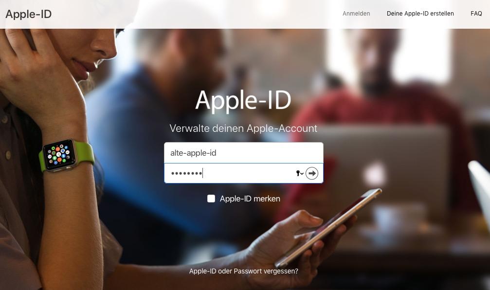 Die Apple-ID sollte nicht unaufmerksam gelöscht werden.