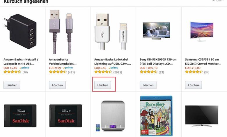 Amazon-App Suche