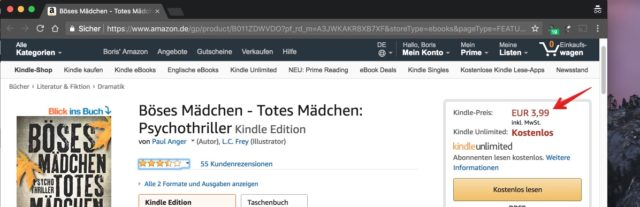 Kindle Unlimited Preis