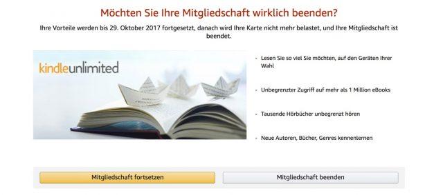 Kindle Unlimited kündigen