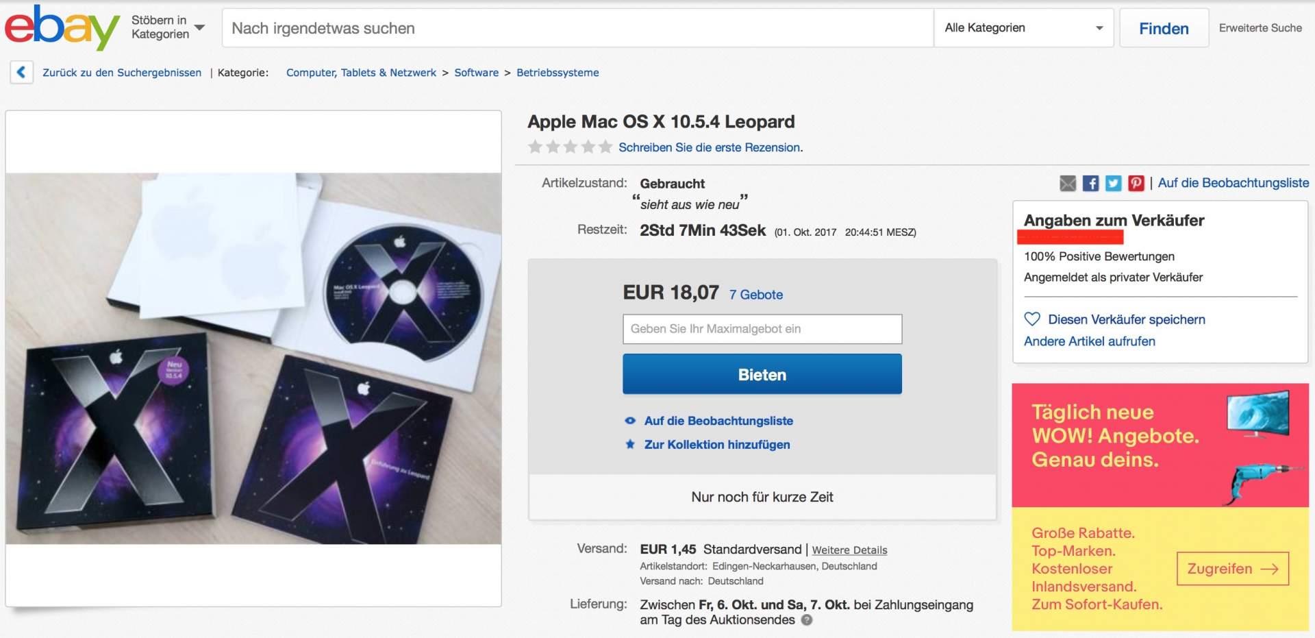 Mac OS X Leopard für PowerPC gibt es nicht zum Download. Es sollte aber problemlos als Boxed-Version bei Ebay zu finden sein.