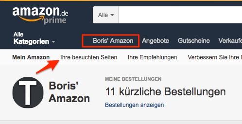 Amazon besuchte Seiten