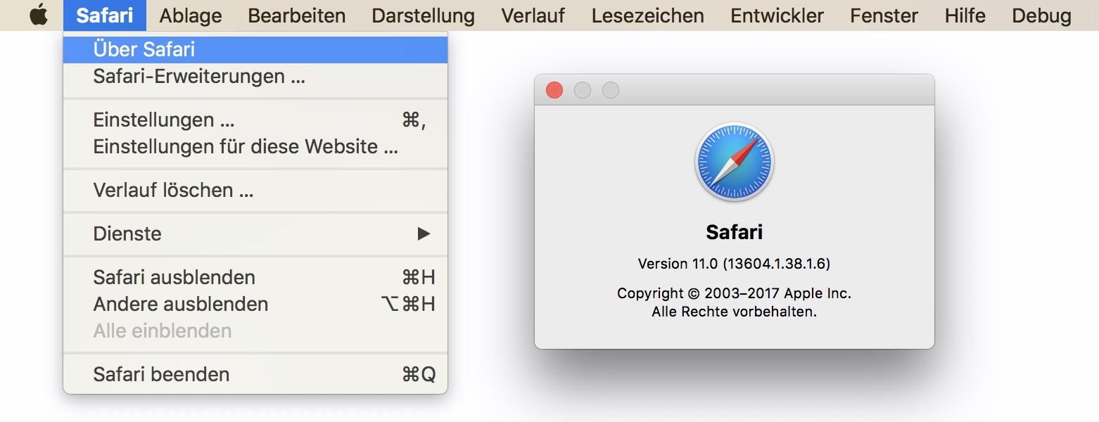 Auf Eurem Mac muss mindestens Safari 11 installiert sein.
