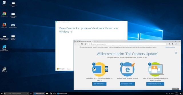 Windows 10 aktualisiert