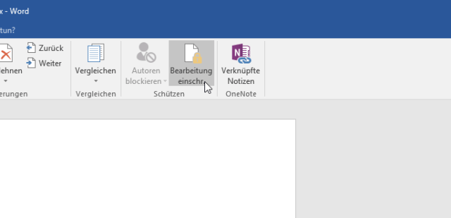 Word Bearbeitung stoppen 01