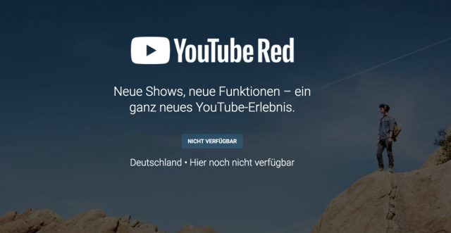 YouTube Red Deutschlandstart