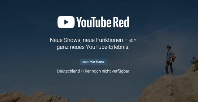 YouTube Red Deutschlandstart