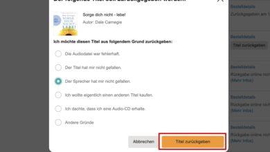 Bild von Anleitung: Hörbücher bei Audible zurückgeben und umtauschen