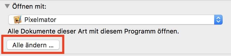 """Ein Klick auf """"Alle ändern"""" ordnet den Dateityp generell der neuen App zu."""