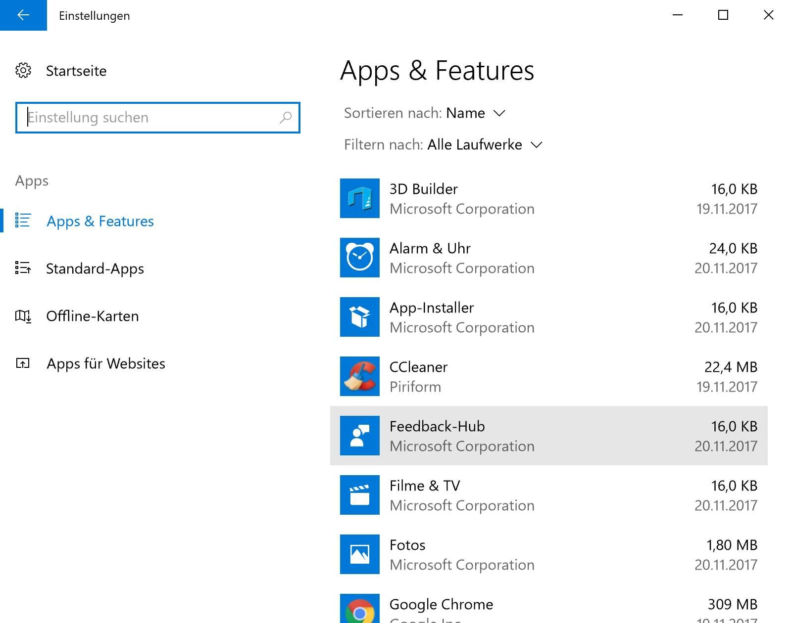 Auch wenn Ihr im Browser keine Toolbar mehr seht: Geht den Software-Uninstaller durch, um eventuelle Reste zu finden.