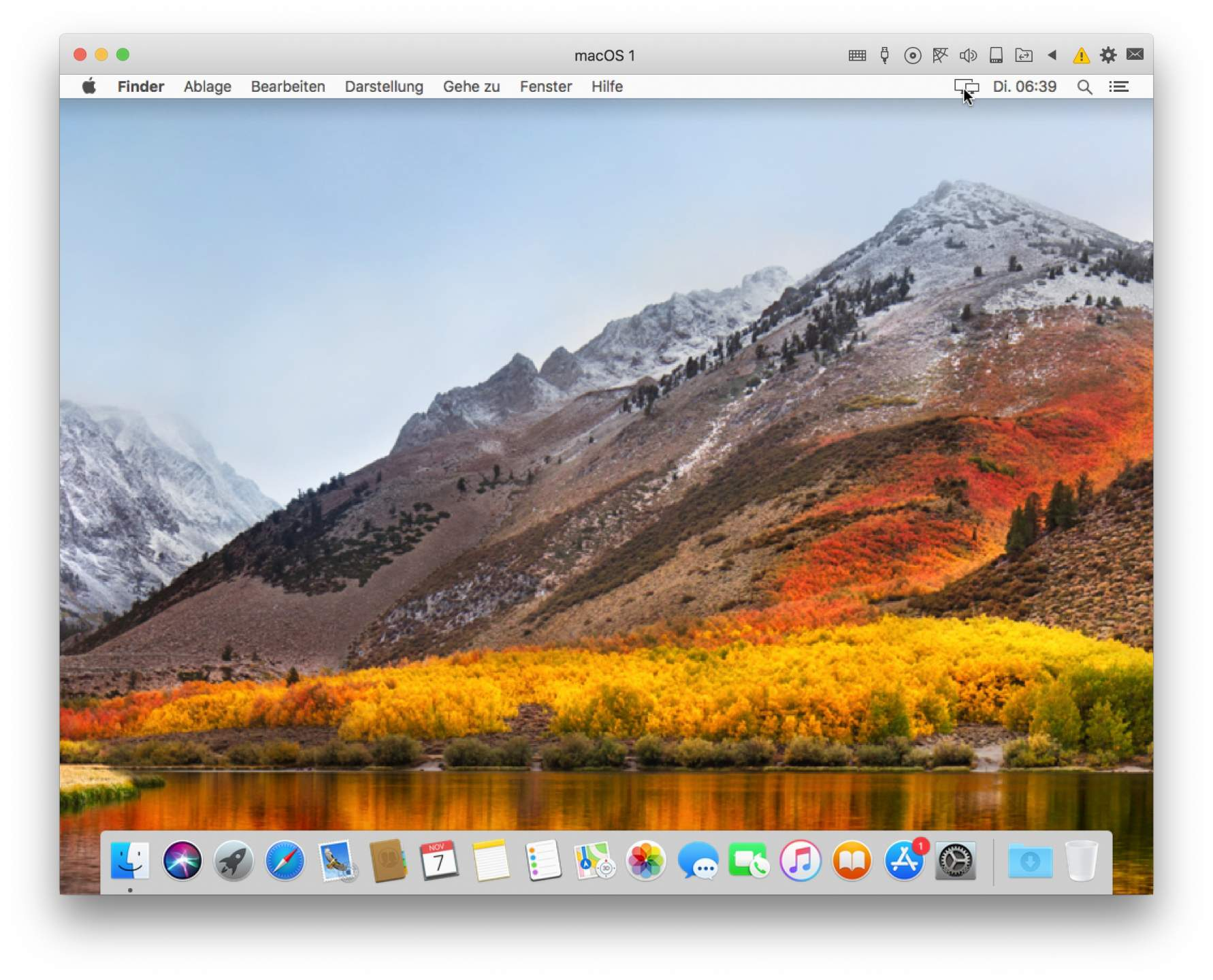 Fertig: MacOS High Sierra läuft in Parallels Lite.