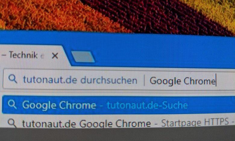 Google Chrome Domains durchsuchen