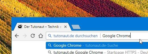 Google Chrome Seite durchsuchen