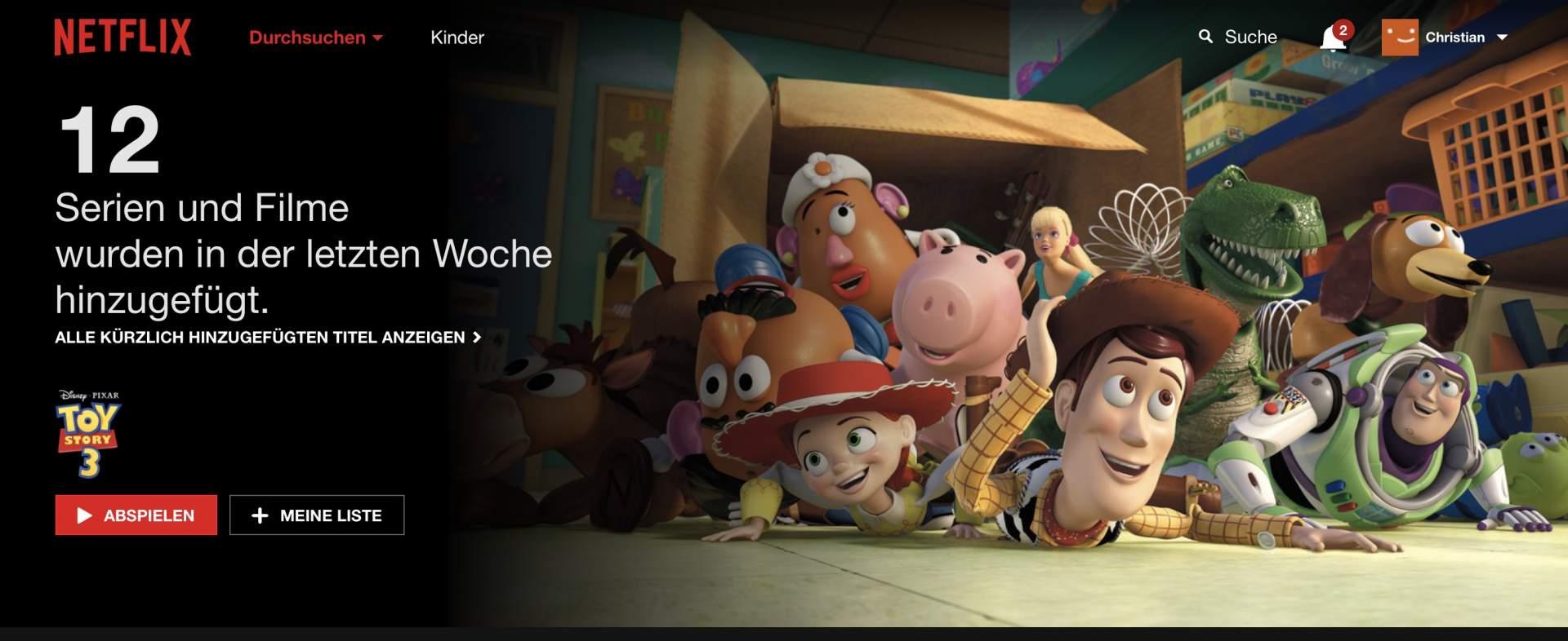 Netflix spinnt unter Safari 11