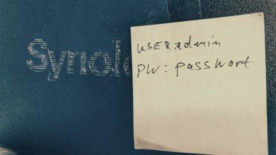 Bild von Anleitung: Passwort für Synology-NAS ändern