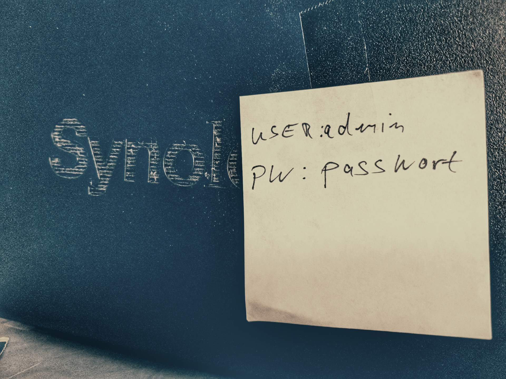 Synology Passwort