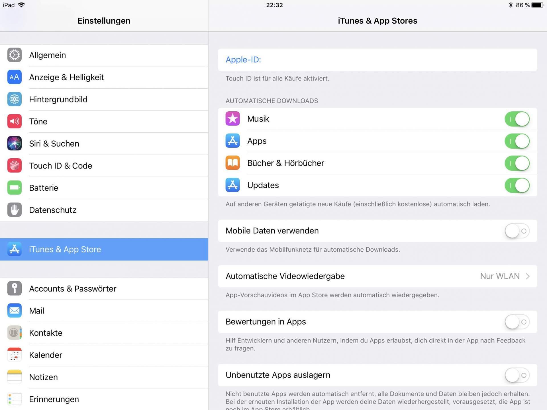 Die automatische Update-Funktion hält Medien und Apps auf dem neuesten Stand.