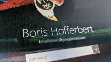 Bild von Windows 10: E-Mail auf Anmeldebildschirm ausblenden