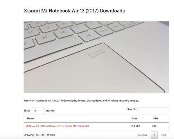 Xiaomi Air 13 Drivers