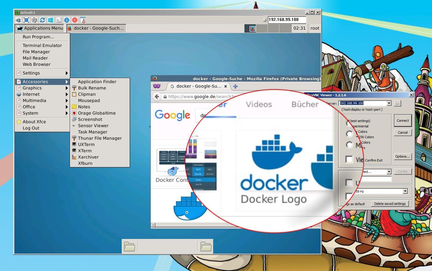 Ubuntu-Desktop per) Docker-Container unter Windows nutzen - adé VM ...