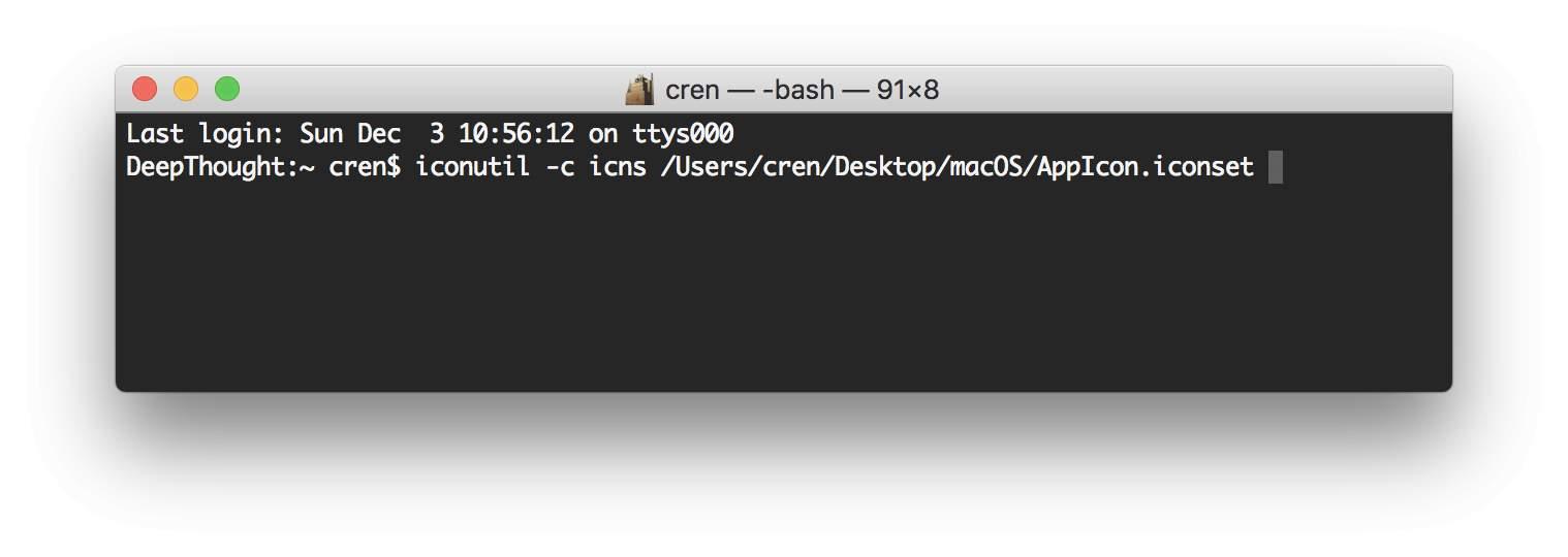 ICNS-Dateien erstellt Ihr im Terminal.