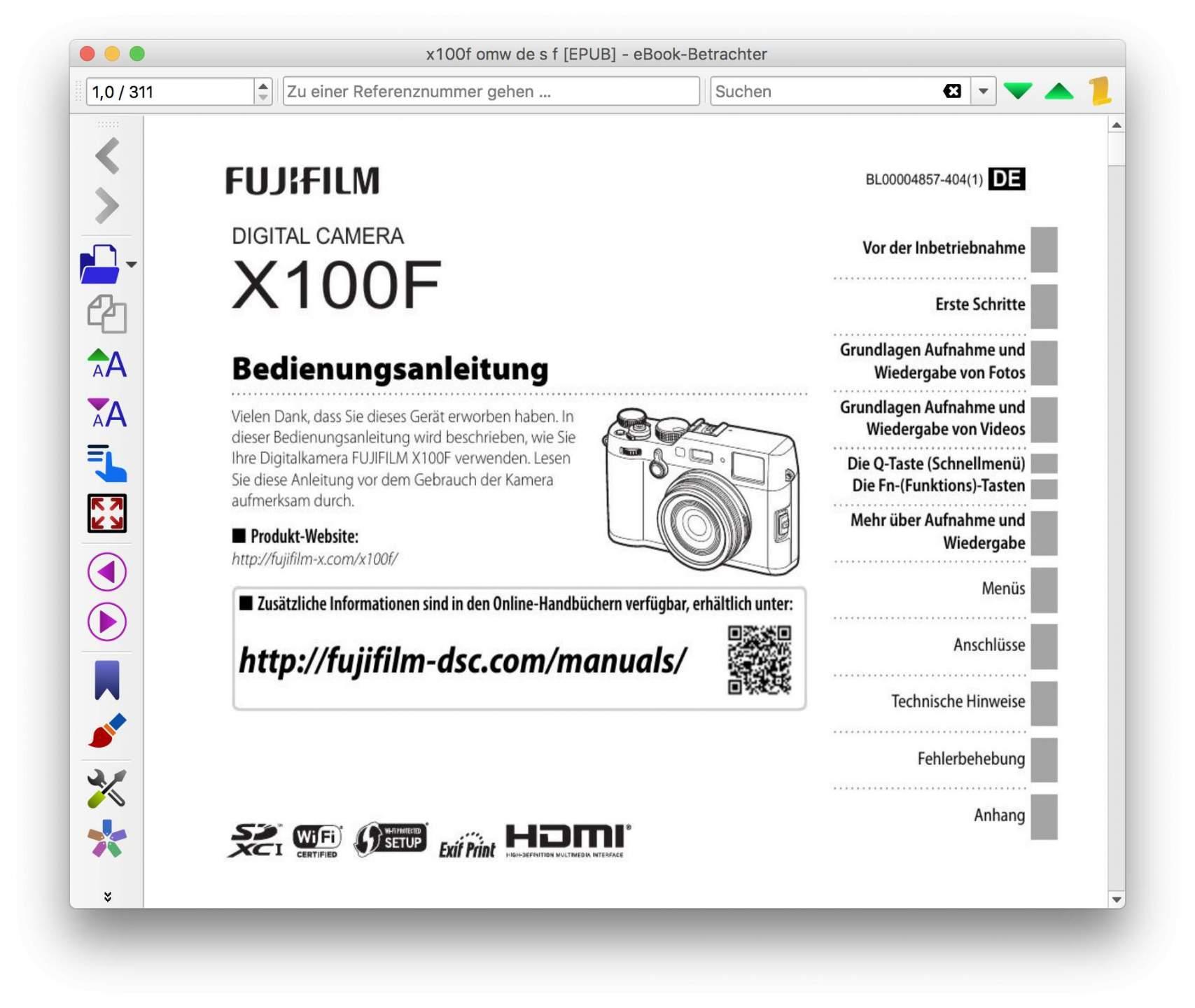 Fertig: Ihr könnt Euer EPUB-eBook jetzt verwenden.