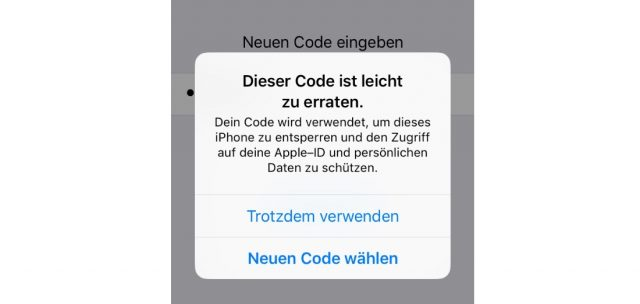 iPhone Code unsicher